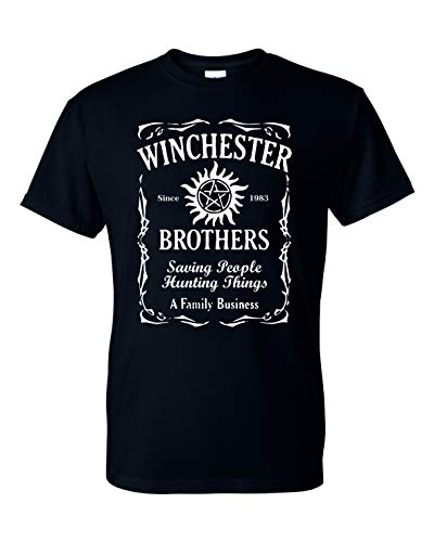 Winchester Brothers TV Series Whiskey Style Unisex T-Shirt - New Black (3XL)