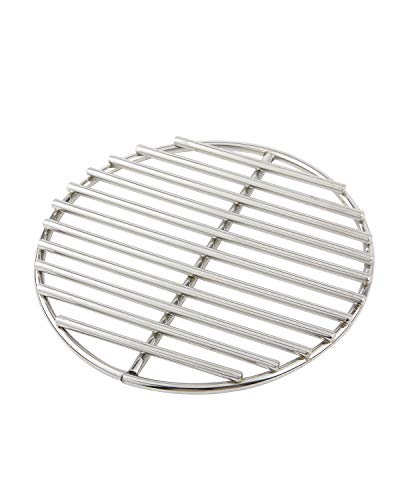 """9"""" BBQ High Heat Stainless Steel Charcoal Fire Grate,Fits Large and Minimax Big Green Egg Fire Grate and Kamado Joe Grill Parts Charcoal Grate Replacement Accessories(9'')"""