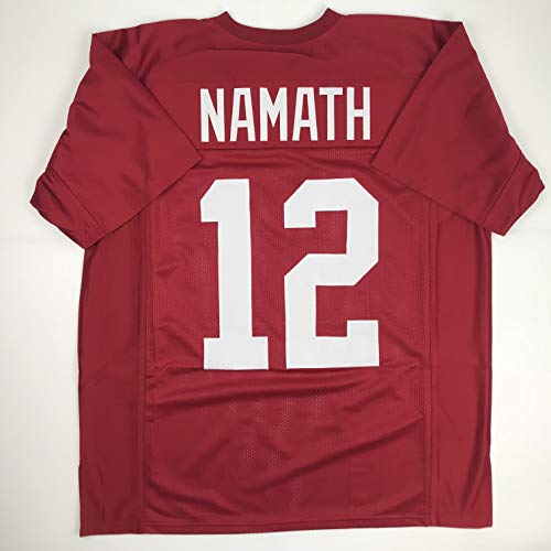 Unsigned Joe Namath Alabama Red Custom Stitched College Football Jersey Size Men's XL New No Brands/Logos