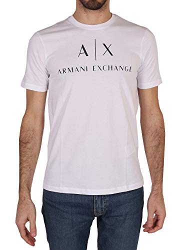 Armani Exchange 8nztcj Camiseta, Blanco (White 1100), S para Hombre