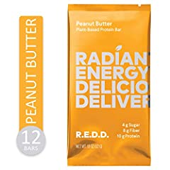 This 12-Count Plant-Based Protein Bar  Pack includes the following vegan protein bar flavors: (12) Peanut Butter. Each of these protein snacks contains 10g of Plant-Based Protein. R.E.D.D. uses a proprietary plant protein blend of Hemp Protein, Pea P...