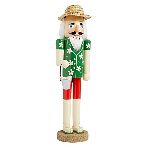 Nantucket Home Wooden Christmas Nutcracker Decor, 15-Inch (Clam Digger)