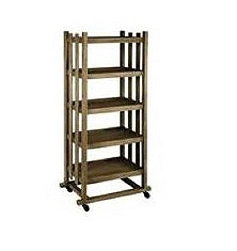 Bibliothèque en bois avec roulettes 5 étages 134270 Comptoir de Famille