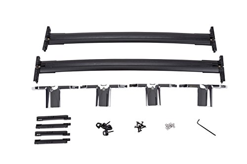 GM # 12499978 Roof Rack Cross Rail Package - Black Rails with Chrome End Cap