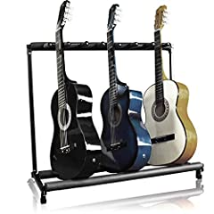 7-guitar stand keeps all your instruments organized in a single place, designed with enough room to hold acoustic, electric, and bass guitars Crafted with padded tubing, this stands support rails will ensure your instruments are protected from scratc...