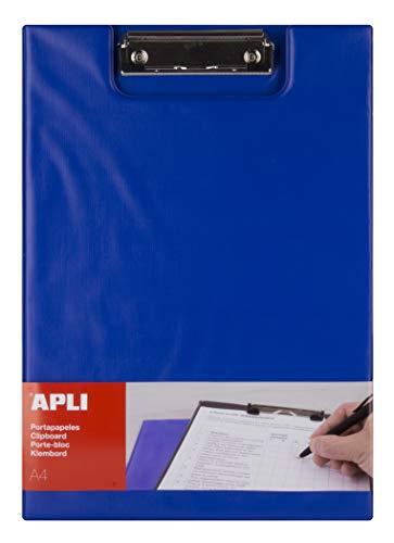 APLI 17205 - Clipboard con risvolto blu A4