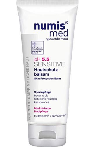 numis med Hautschutzbalsam ph 5.5 SENSITIVE - Hautpflege vegan - Creme für sensible, feuchtigkeitsarme & zu Allergien neigende Haut - Feuchtigkeitscreme (1x 100 ml)