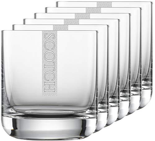 Miriquidi Juego de 6 vasos Scotch Serie Cool con grabado Whisky   en vaso Schott Zwiesel Convention nº 60 de 300 ml   aptos para lavavajillas   vidrio Scotch con grabado láser 6 unidades