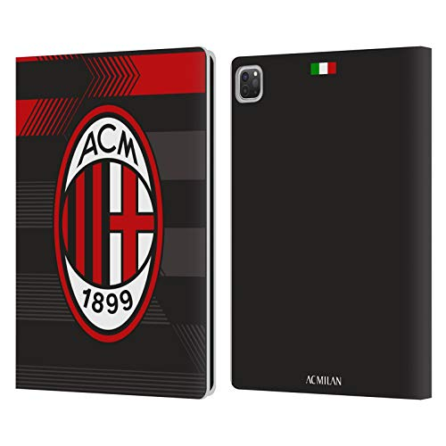 Official AC Milan Third 2017/18 Crest Kit Leather Book Wallet Case Cover Compatible For Apple iPad Pro 12.9 (2020)