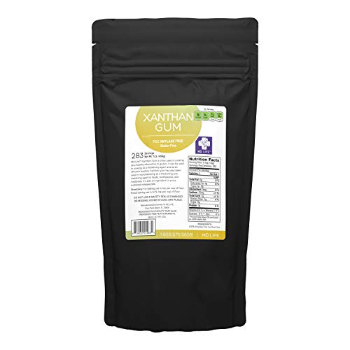 MD. Life Xanthan Gum Powder 1 LB – 100% Natural – Xanthan Gum Keto Friendly – Gluten Free – Carb Free – Low Carb Xanthan Gum for Baking, Cooking & Thickening Agent Jelly, Ice Cream, Sauce & Gravy