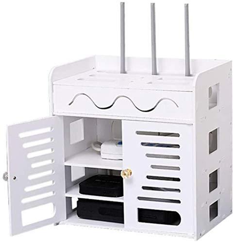 LULUDP USB Hub Cable Caja de Carga Caja de Almacenamiento Router inalámbrico Set Top Box Almacenamiento WiFi Gratuito Powerwall Punch Línea de Datos Caja de Acabado