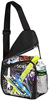 Clear Sling Bag Reinforced Adjustable Straps for Extra Durability Backpack, Daypack Easy Stadium Security Check Bag Traveling