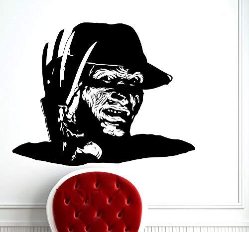 zzlfn3lv Freddy Krueger Wandkunst Poster Nightmare On Elm Street Horrorfilm Aufkleber Vinyl Aufkleber Home Room Interior Decor Wohnheim Kunstwand 58 * 74 cm