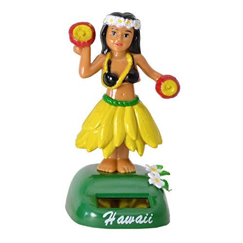 Unbekannt Hula Girl Solarfigur in gelb - Hula Mädchen Solar Figur