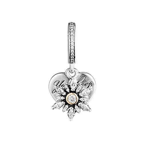 LILANG Pandora 925 Schmuck Armband natürliche Perlen Schneeflocke Herz Charme Sterling Silber passt Perlen für Frauen DIY Geschenk