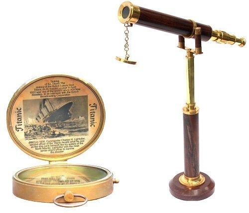 ultime de collection nautique Bateau Télescope et boussole Combo