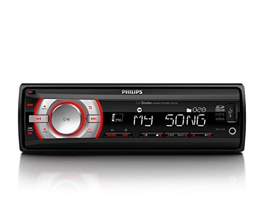 Philips CE132 - Radio de coche (RDS AM/FM, MP3, USB, lector tarjetas SD/SDHC)