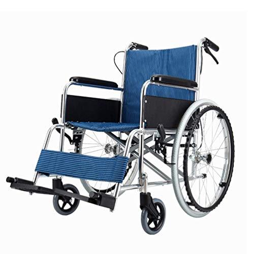 Cajolg Eiiist Rollstuhl Faltbar,Rahmen aus hochbelastbarer Aluminiumlegierung hohe tragfähigkeit Erwachsene Rollstühle,Rollator Faltbar Leichtgewicht