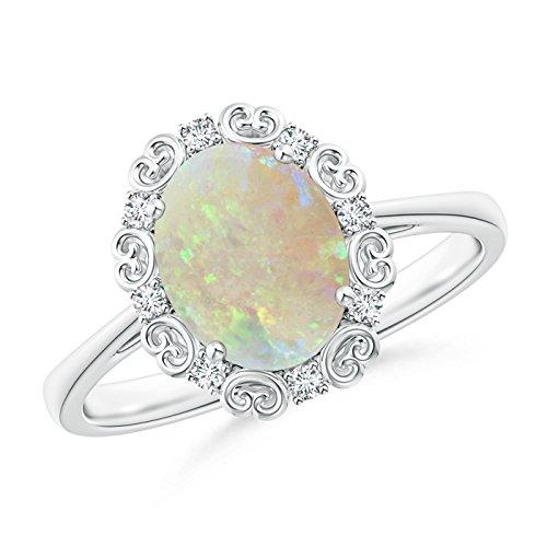 Angara.com  -  Platin 950  Platin Ovalschliff    Diamant Opale