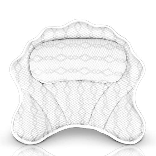 Luxury Bath Pillow Bathtub Pillow - Bath Tub Cushion for Head, Neck, Shoulder and Back Support, Hot Tub Head Rest Bath Accessories for Women & Men, Relaxation Spa Gifts Home and Travel