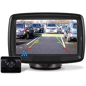 AUTO-VOX Caméra de Recul sans Fil,Caméra de Voiture Numérique avec Bonne Vision Nocturne, Caméra Etanche IP68, 4.3pouces Moniteur TD2