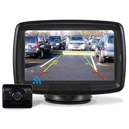 Auto Vox Rückfahrkamera Drahtlos Set Mit 4 3 Zoll 11 Cm Lcd Monitor Wireless Einparkhilfe 12v 24v Mit Ip68 Wasserdichte Digital Rückfahrkamera Mit Gute Nachtsicht Td2 Navigation