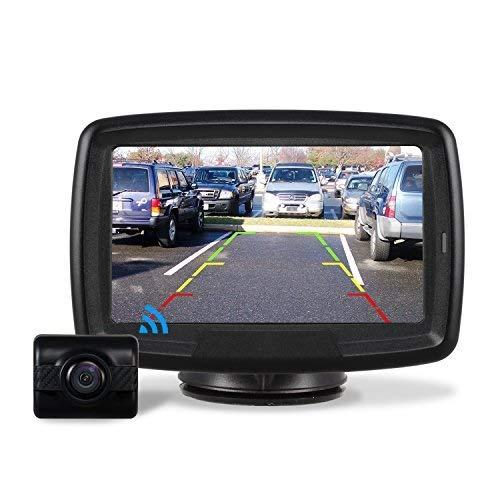 Auto-VOX TD-2 Kit de cámara de Marcha atrás Digital inalámbrica con Monitor TFT, 10,9 cm Cámara de Coche Impermeable IP 68 con Buena visión Nocturna,Sistema de Asistencia para Aparcamiento 12V/24