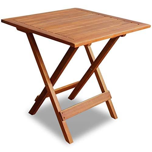 Qazxsw Muebles de Patio con Soporte de Planta marrón de Madera de Acacia de Mesa Auxiliar de café al Aire Libre
