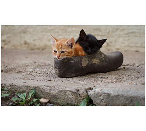 HU0QWPKU Twee katjes in lederen schoenen puzzel volwassenen familiepuzzel DIY hout kinderen intellectuele ontwikkeling speelgoed kunst 500 stuks