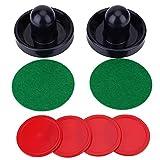 Yosoo Health Gear Pucks de empujadores de Hockey de Aire, Juego de empujadores de Hockey de Aire, Juego de Discos de empujadores de Hockey sobre Hielo de porteros de Repuesto para Juego de mesas