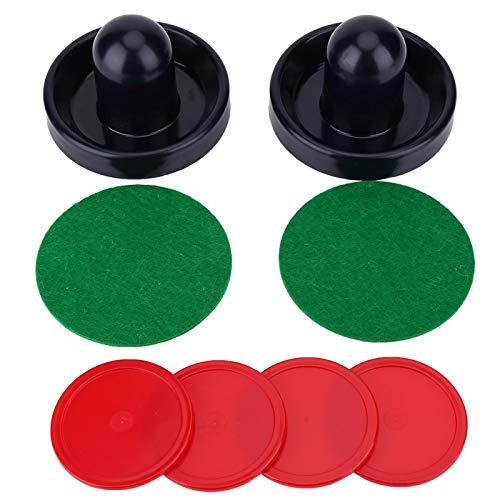 ホッケープッシャー、プラスチック製軽量ホッケーゴールキーパーアイスプッシャーパックホッケーハンドルボールマレットゴールキーパーセットテーブルゲームの交換