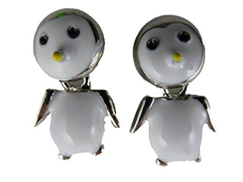 Ohrringe Ohrstecker Stecker silberfarben Pinguin Eis Arktis Antarktis 6364