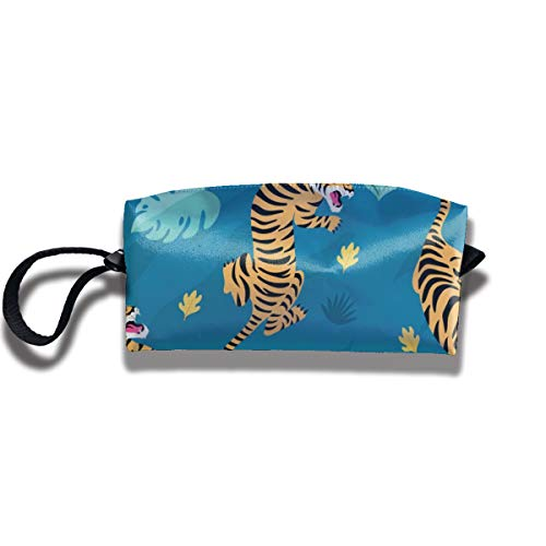 Bbhappiness Pouch Handbag Cosmetics Bag Case Purse Travel & Home Portable Make-up Receive Bag Vintage Tiger Pattern