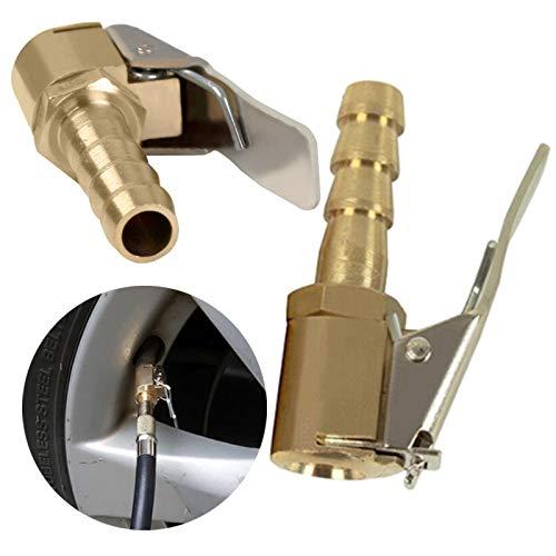 WSGFPO Conector de Válvula de Neumático Mandril de Inflado de Neumáticos Boquillas...