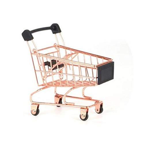 XYZMDJ Carrito de Compras Carrito de supermercado de Juguete Carrito Plegable Cesta...