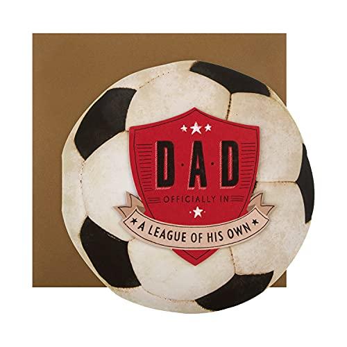 Vatertagskarte für Papa von Hallmark – gestanztes Fußball-Design.