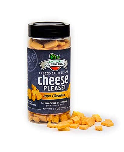 Brothers All Natural Freeze Dried Crispy Cheese Please! 100% Cheddar 7.8 oz jar