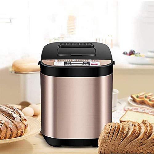 Dytxe-shelf Automatische broodbakmachine voor ontbijt, huishouden, multifunctioneel, met uitgestelde startfunctie en 19 programma's, intelligent brood, toast, yogourt, meel