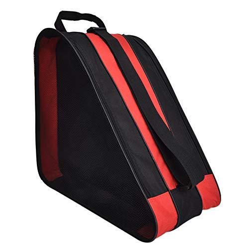 DAZISEN Skate Bag - Tela Oxford Respirable Impermeable Bolsa Patines de Linea para Niños, Rojo, 39 * 20 * 38cm