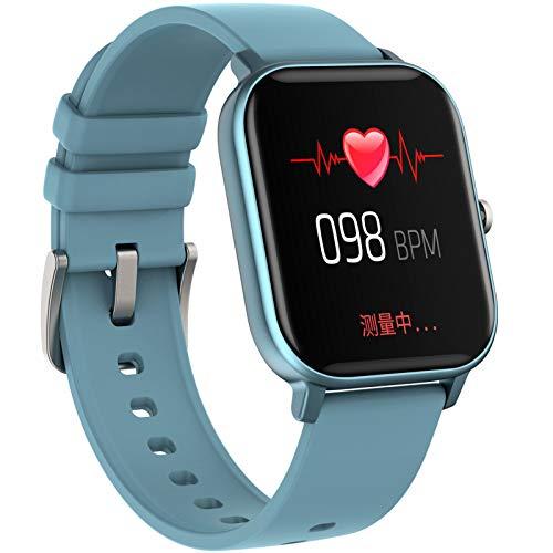 WYLZLIY-Home Smartwatch Fitness Armbanduhr Sportuhr Fitness-Tracker Silikon-Armband Intelligente Sportuhr Mit Herzfrequenz-Blutdruckmessgerät, wasserdichte Uhr Mit Schlafmonitor