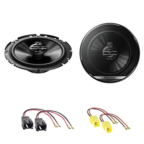 Pioneer TS-G1730F 2-Wege Koaxial Lautsprecher System Einbauset für Peugeot 206 307 406 Coupé 407 Coupé vordere Türen