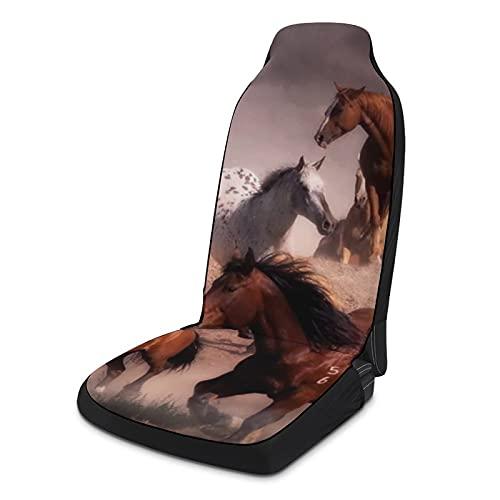 Fundas de asiento de coche suaves para mujeres y hombres, paquete de 2, protectores de asiento universales duraderos para decoración de interiores para SUV, sedanes, camiones, furgonetas, caballos