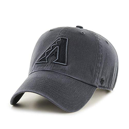 '47 Brand Arizona Diamondbacks Clean Up Hat Cap Charcoal (Dark) Gray/Black