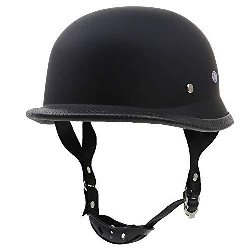 LUNANA Casco Half Motocicleta Retro Moto Helmet Fácil de Instalar y Desmontar...