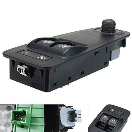 SUJIE Interruttore Alzacristalli Interruttore Finestra Compatibile con Peugeot Boxer Citroen Jumper Fiat Ducato 735487419 Sostituzione (Color : Black)
