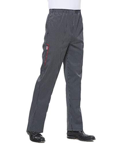 Sawanica Trabaja Pantalones de Cocinero Negro
