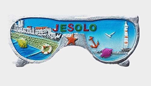 3D Jesolo Venezia Italia souvenir magnete frigo, decorazione casa e cucina Jesolo Venezia Italia frigorifero magnete adesivo
