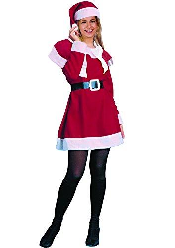 Ciao 25015 - Miss Natale, Rosso/Bianco, Taglia Unica