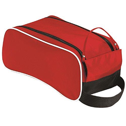 Quadra senior shoe bag in Rot/schwarz/wei?