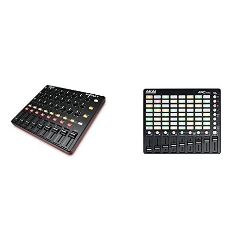 AKAI Professional Midimix - Voll zuweisbarer, portabler MIDI Mixer & DAW Controller & APC Mini - Kompakter USB Bus Powered 64 Button Clip Launcher für Ableton Live